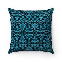 Load image into Gallery viewer, Blue Abstract Pattern Faux Suede Square Pillow Home Decor Printify