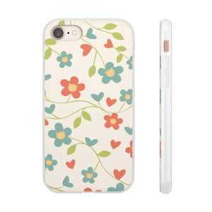 Flexi iPhone & Galaxy Phone Cases: Springtime Cat Phone Case Printify iPhone 8