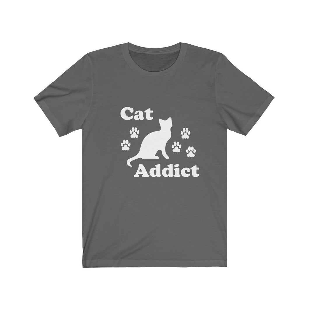 T-Shirt: Cat Addict T-Shirt Printify Asphalt L