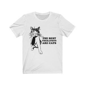 T-Shirt: The Best Therapists Are Cats T-Shirt Printify White L