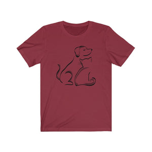 T-Shirt: Cat and Dog T-Shirt Printify Cardinal XS
