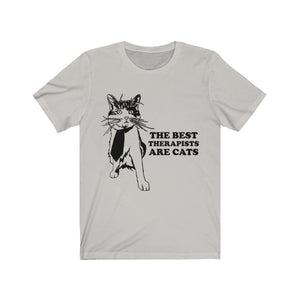 T-Shirt: The Best Therapists Are Cats T-Shirt Printify Silver XS