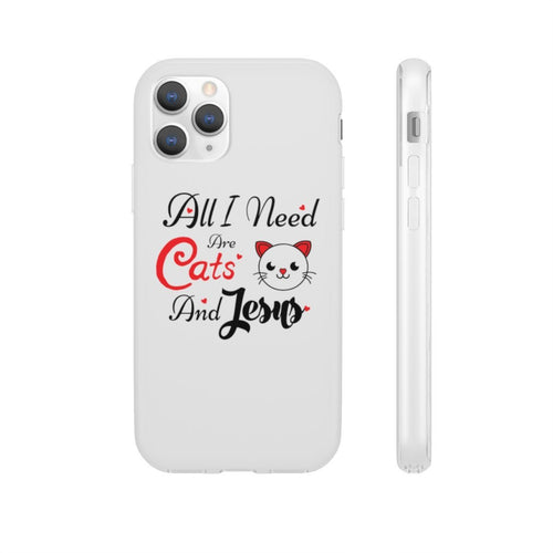 Flexi iPhone & Galaxy Phone Cases: All I Need Are Cats & Jesus Phone Case Printify iPhone 11 Pro
