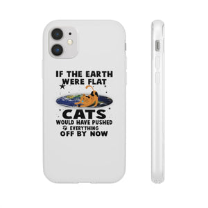 Flexi iPhone & Galaxy Phone Cases: Cats If The Earth Were Flat Phone Case Printify iPhone 11
