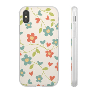 Flexi iPhone & Galaxy Phone Cases: Springtime Cat Phone Case Printify iPhone X