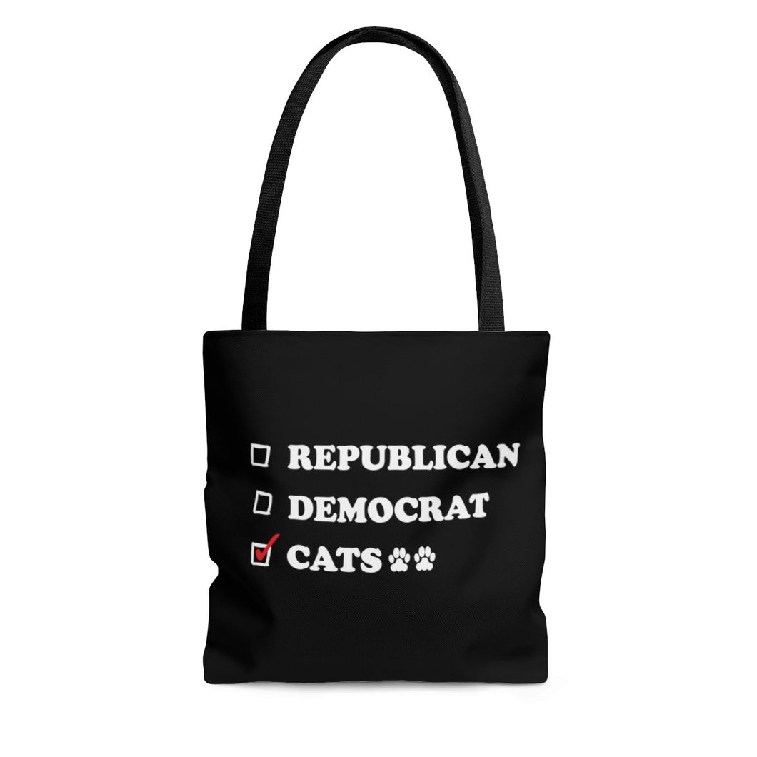 Reusable Tote Bag: Republican Democrat Cats Bags Printify Large