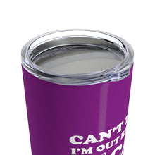 Load image into Gallery viewer, Vacuum Insulated 20oz Tumbler: Can't Today I'm Out Rescuing Cats Mug Printify