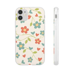Flexi iPhone & Galaxy Phone Cases: Springtime Cat Phone Case Printify iPhone 11