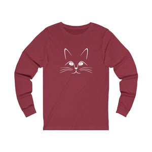 Long Sleeve T-Shirt: Kitty Cat Long-sleeve Printify Cardinal S