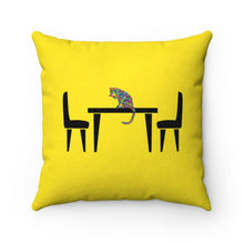 "Load image into Gallery viewer, Faux Suede Square Pillow: Hungry Cat Home Decor Printify 14"" x 14"""