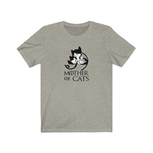 T-Shirt: Mother Of Cats T-Shirt Printify Heather Stone XS