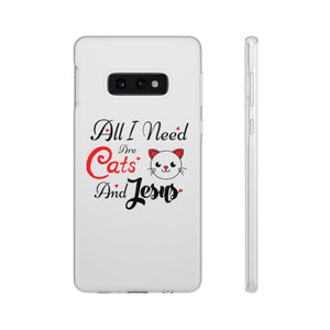 Flexi iPhone & Galaxy Phone Cases: All I Need Are Cats & Jesus Phone Case Printify Samsung Galaxy S10E