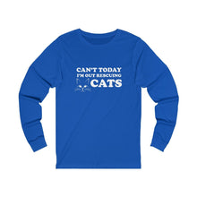 Load image into Gallery viewer, Long Sleeve T-Shirt: Can't Today I'm Out Rescuing Cats Long-sleeve Printify True Royal S