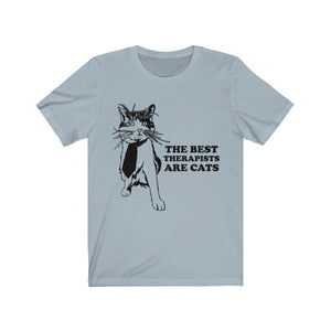 T-Shirt: The Best Therapists Are Cats T-Shirt Printify Light Blue XS