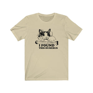T-Shirt: I Found This Humerus T-Shirt Printify Soft Cream XS