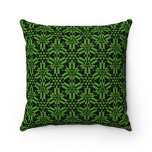 "Load image into Gallery viewer, Green Abstract Pattern Faux Suede Square Pillow Home Decor Printify 14"" x 14"""
