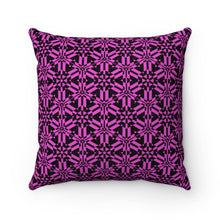 "Load image into Gallery viewer, Pink Abstract Pattern Faux Suede Square Pillow Home Decor Printify 14"" x 14"""