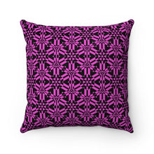 Load image into Gallery viewer, Pink Abstract Pattern Faux Suede Square Pillow Home Decor Printify