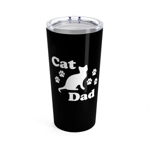 Vacuum Insulated 20oz Tumbler: Cat Dad Mug Printify