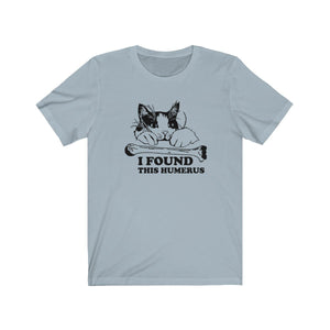 T-Shirt: I Found This Humerus T-Shirt Printify Light Blue XS