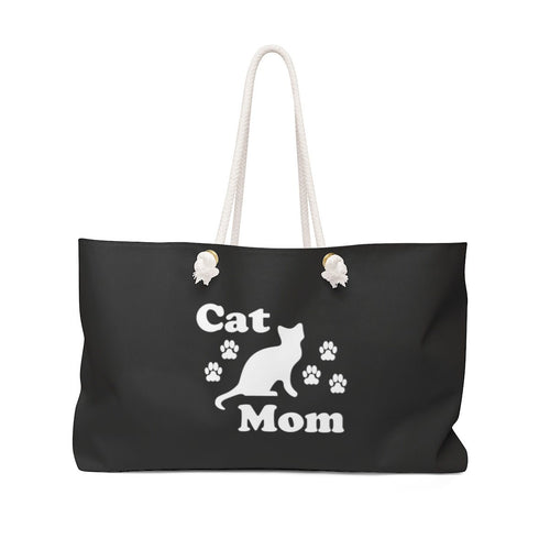 Weekender Bag: Cat Mom Bags Printify 24x13