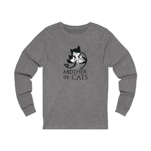 Long Sleeve T-Shirt: Mother Of Cats Long-sleeve Printify Deep Heather S