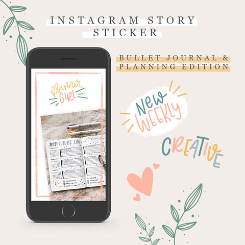 Instagram Story Sticker - Bullet Journal & Planning Edition
