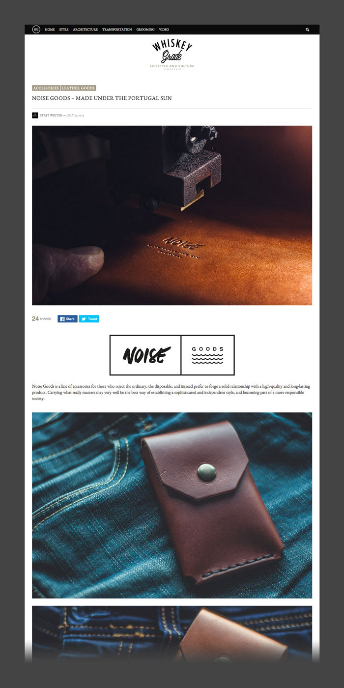 Screenshot of Noise Goods featured on whiskeygrade.com