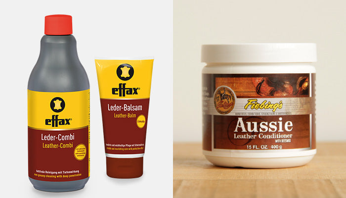 Effax leather care products and Fiebing's Aussie Conditioner