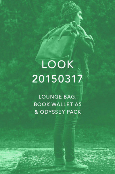 Look 20150317 - Lounge Bag, Book Wallet A5 and Odyssey Pack