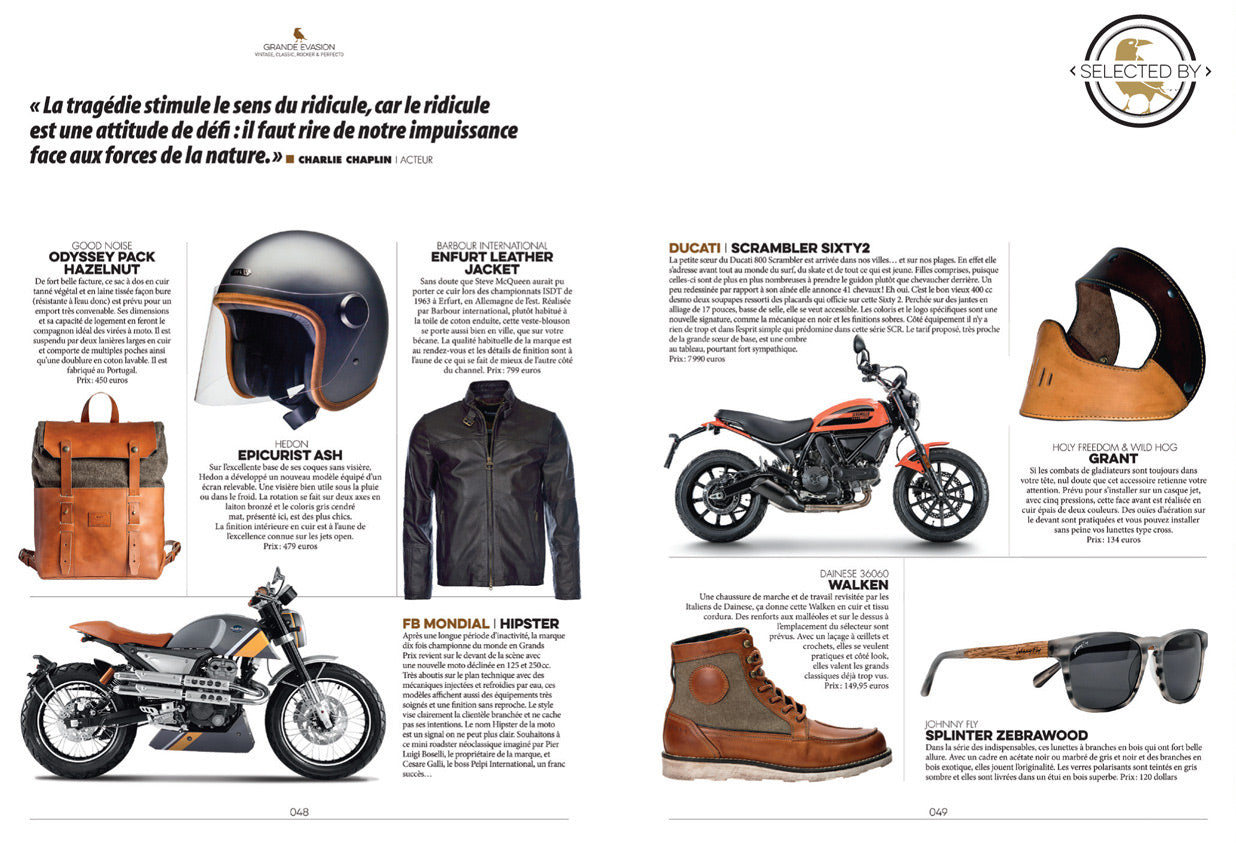 Odyssey Pack Hazelnut in Moto Heroes magazine recommendations