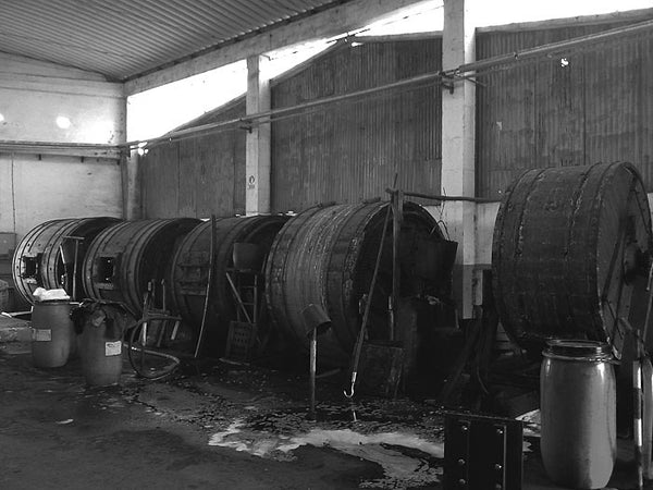 Tannery drums.