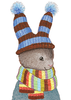 Rabbit With Hat & Scarf