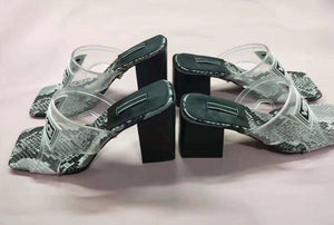 Medusa Designer Inspired Sandals Block Heels