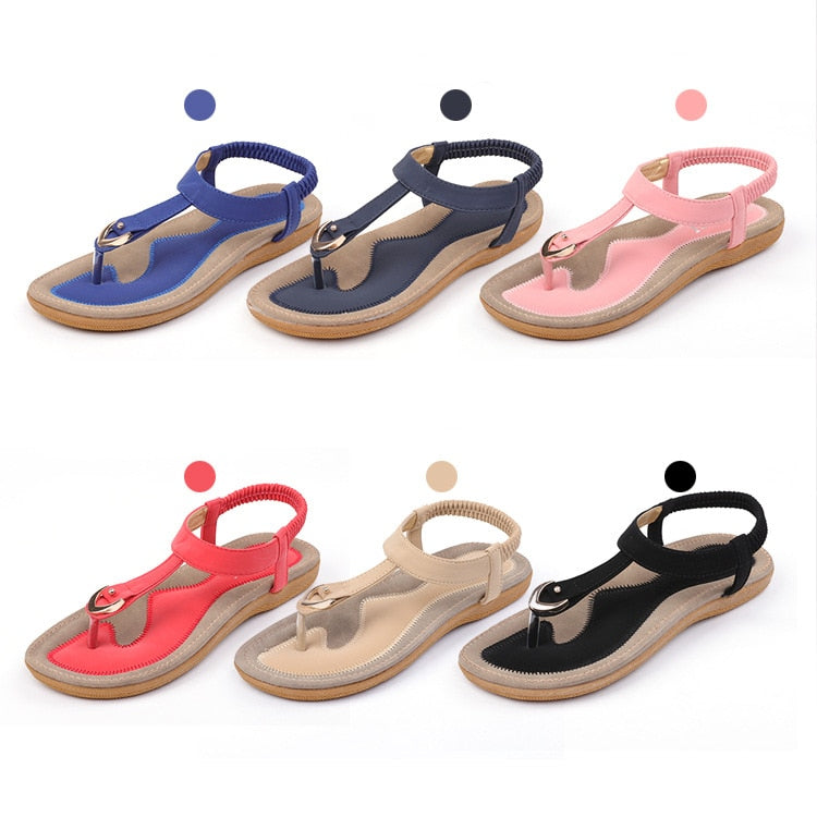 Flat casual sandals soft bottom woman shoes