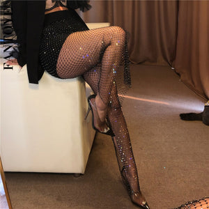 Diamond Pants Fishnet Trousers