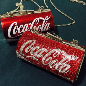 Coca Cola Chain Shoulder Clutch Bag red can