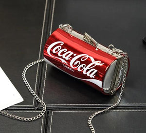 Coca Cola Chain Shoulder Clutch Bag red can small