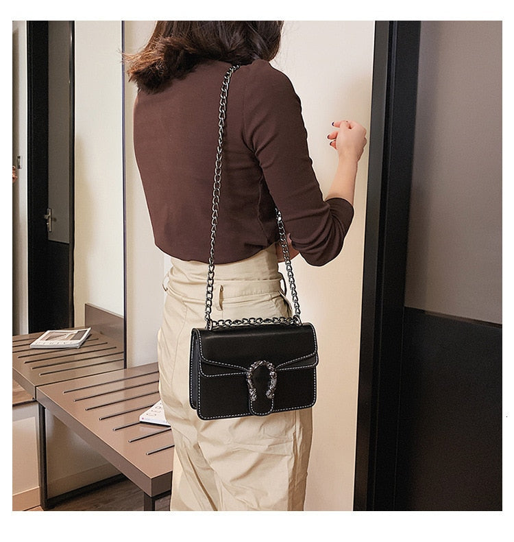 Female Crossbody 2019 High Quality PU Leather Famous Brand Luxury Handbag