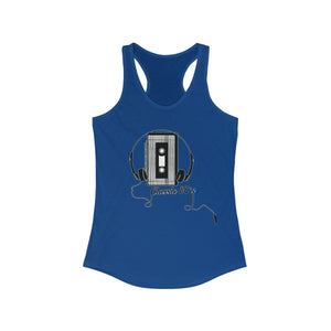 Cassette Player Women's Ideal Racerback Tank