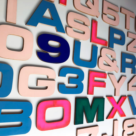 12 Inch Ply and Perspex Letters & Numbers