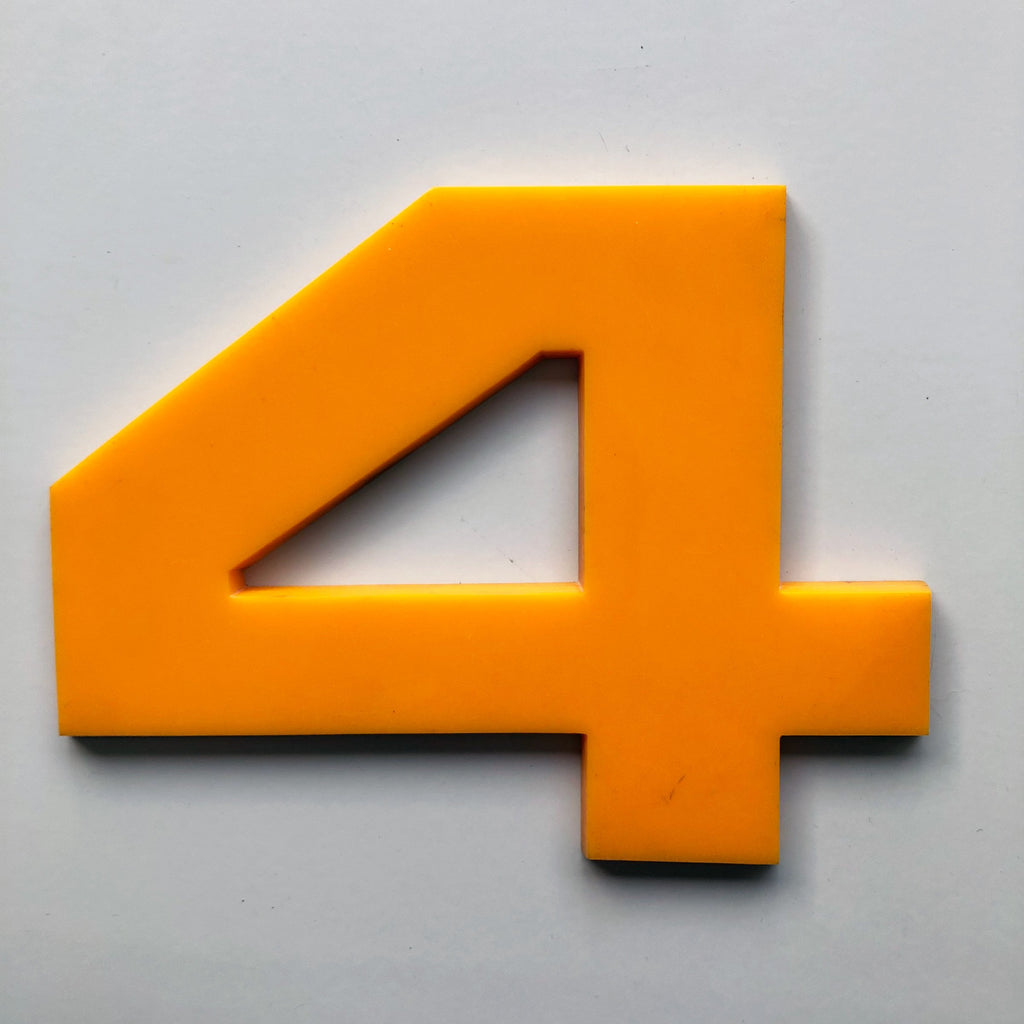 4 - Large Number Solid Perspex