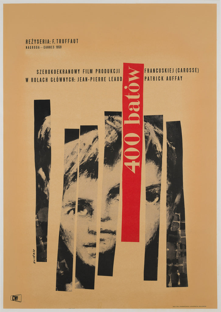 400 Blows Polish 1960 Film Poster