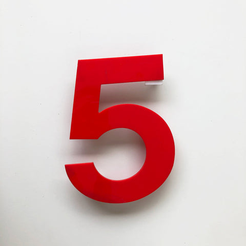 5 - Medium Red Cinema Number Type1