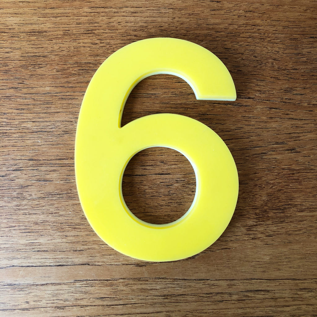 6 or 9 - Medium Perspex Number