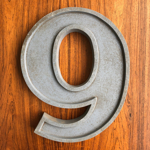 9 or 6 - Large Letter Metal