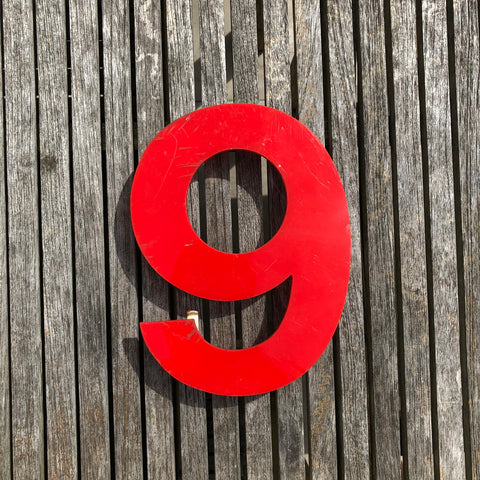 9 - Medium Red Cinema Number Type1