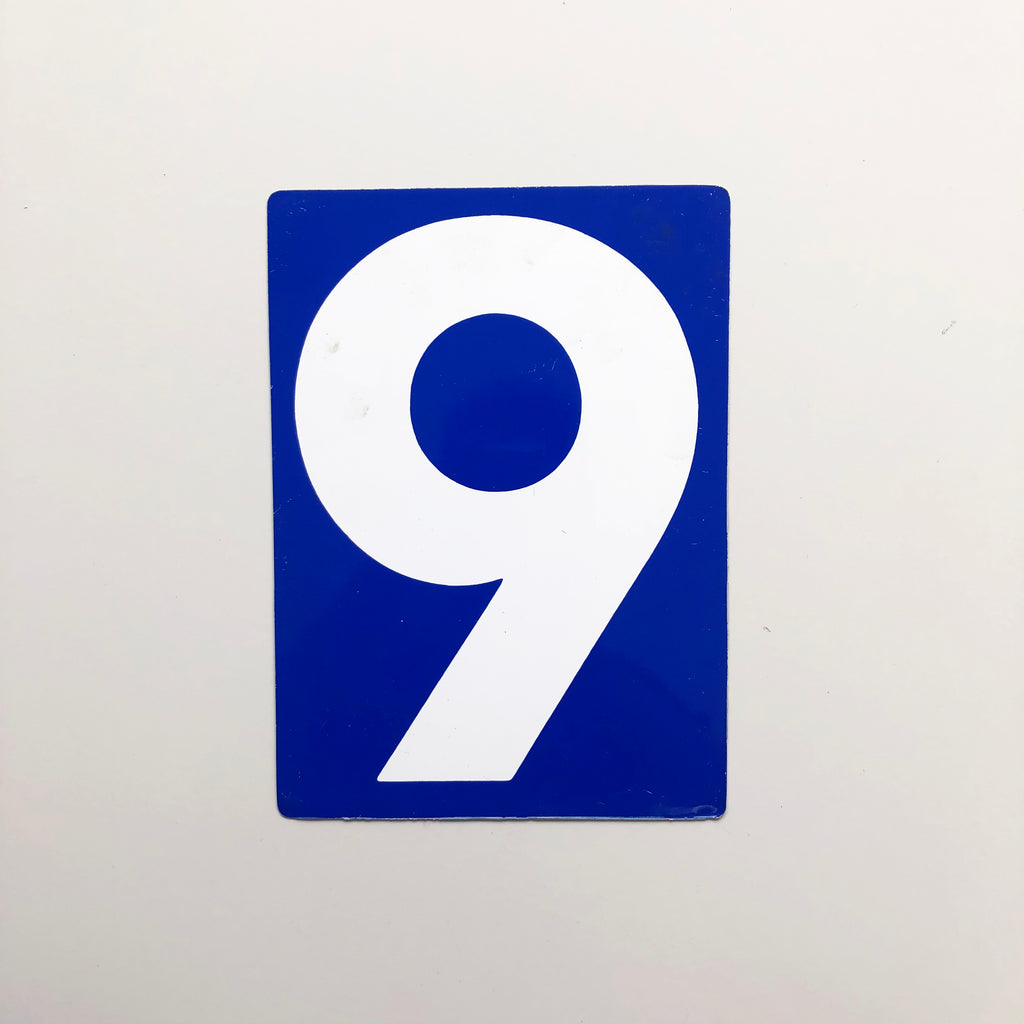 9 & 0 - Medium American Gas Station Sign (double sided)