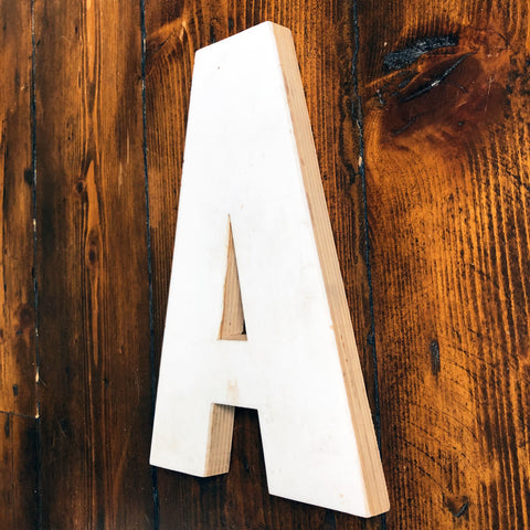 A - Medium Factory Shop Letter Ply Wood & Perspex