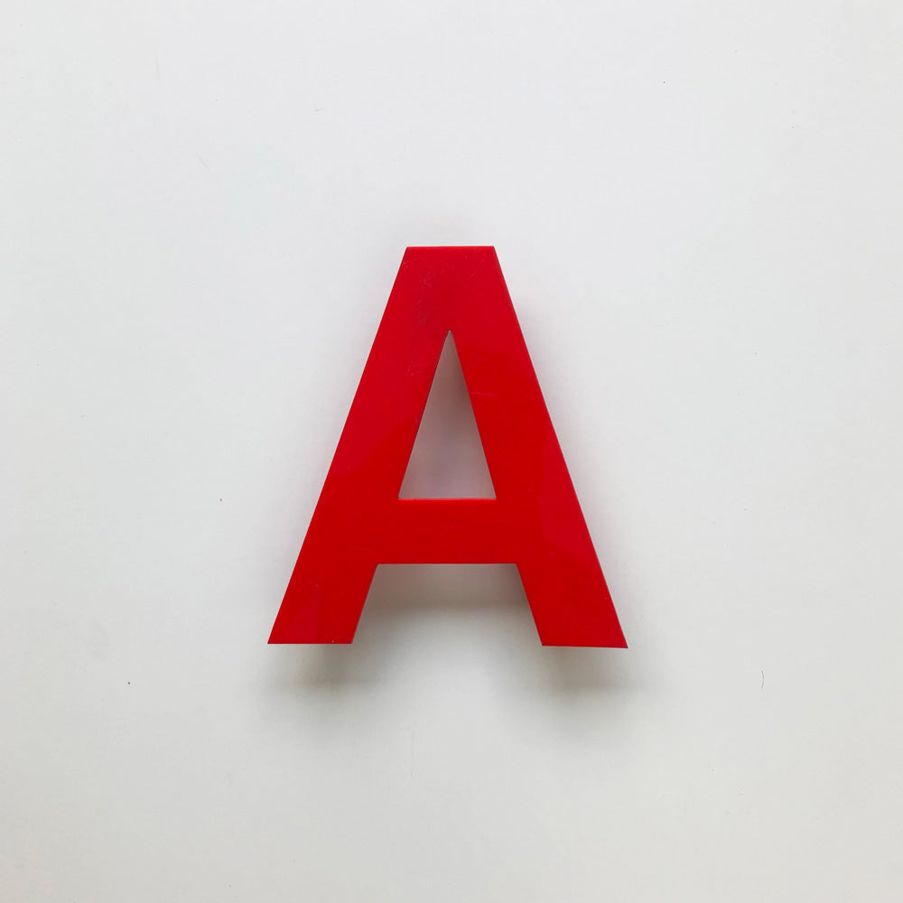 A - Medium Red Cinema Letter Type1